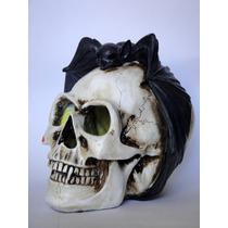 Cráneo Murciélago Luz Led Calavera Calaca Muertos Halloween