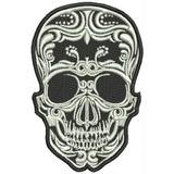 Patch Bordado Dv073 Skull Caveira Mexicana P/ Colete Jaqueta