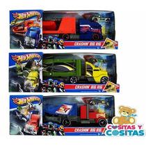Hot Wheels Transporta Choques Trailer Autos Mattel Envio Gra