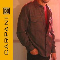 Camisa De Abrigo Campera En Paño De Lana Carpani P. Hombre