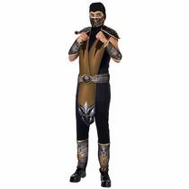 Fantasia Scorpion Mortal Kombat Original Luxo Adulto