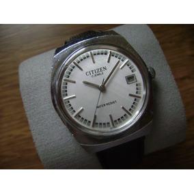 Reloj Citizen Vintage De Cuerda Con Calendario.