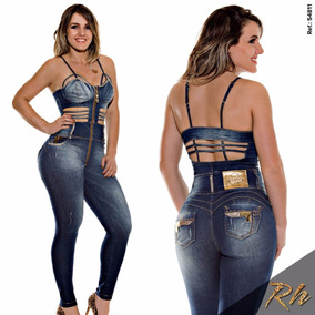 Macacão Rhero Jeans Estilo Pitbull