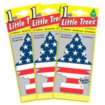 Little Trees Vanilla Pride Bandeira Americana Perfume 2 Unid