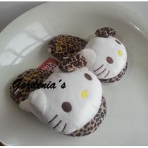 Pantuflas Hello Kitty Para Niñas Animal Print