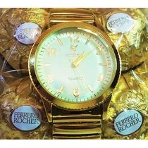Relógio Feminino Barato Marca Famosa Na Caixa De Bombom