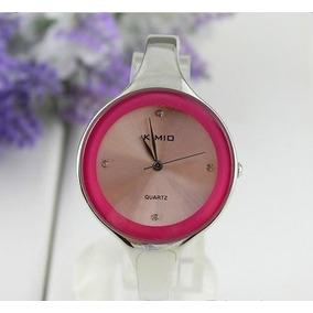 Relógio Bracelete Em Aço Kimio Pink