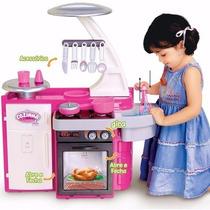 Cozinha Infantil Brinquedo Completa Sai Agua De Verdade