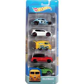 Hot Wheels 5 Pack Vw Volkswagen New Beetle Combi Safari Golf