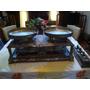 Antigua Balanza De 2 Platos Marmol Bronce Y Alpaca Una Joya