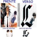 Caderno Death Note Novo- 1 Materia - 96 Folhas Mod 04