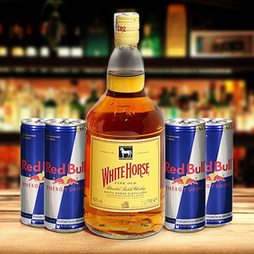 Combo White Horse + Pack Com 4 Energéticos Red Bull