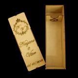 Caixa Personalizada Porta Espumante Vinho Mini Casamento Mdf