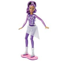 Barbie En Una Aventura Espacial Patinadora Espacial Luces Y