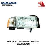 Faro Derecho Dodge Ram 1994-2001