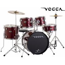 Bateria Acústica Bumbo 22 Pol Talent Vpd920 Vinho - Vogga