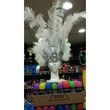 Casco De Plumas Blanco - Carnaval Carioca Casamiento
