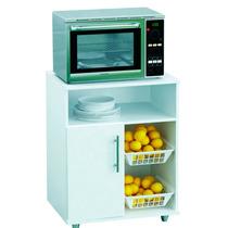 Mueble Microondas Rack Para Frutas Blanco Oferta