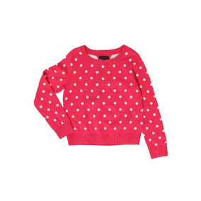 Suéter Para Niña Tommy Hlfiger Rosa Polka Dots Original