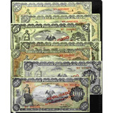 Coleccion De 7 Billetes Revolucion Del Gobierno Provisional