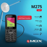 Telefone Celular Rural Simples Mox M275 + Cabo Antena Rural