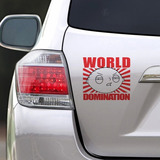 Sticker Auto World Domination (d0231 Boleto Store)