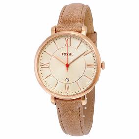Reloj Fossil Es3487 Oro Rosa Dama Jacqueline Piel Original*