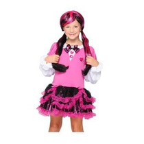 Monster High Vestido Disfraz Draculaura T 8-10 Original