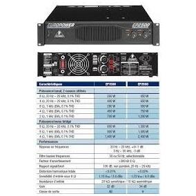 Locação Potência Amplificador Behringer Ep 2500 Ep2500 220v