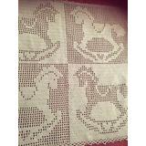 Manta Para Bebé - Crochet Tejida A Mano - Verde Pastel