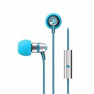 Auriculares Mee Audio Crystal Swarovski Turquesa Y Micrófono