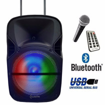 Bafle Bocina 12 Amplificada Bluetooth Recargable Usb Micro