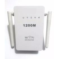 Repetidor E Roteador 1200mbps 2 Antena Amplificador Wifi