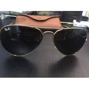 Óculos Ray Ban Aviator Large Metal Dourado Made In Italy