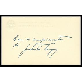 Assinatura - Getúlio Vargas - Cartão Usado Na Presidência