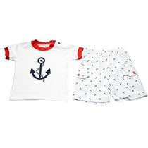 Conjunto Camiseta E Bermuda Anchor 1 Ano - Little Bee