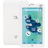 Tablet Dl Socialphone Função Celular Tx316bra, 8gb - Branco