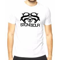 Camiseta Stone Sour (branca/cinza/vermelha)