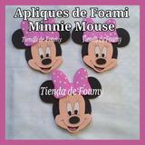 Apliques Figuras Foami Minnie Mickey Mouse Distintivos