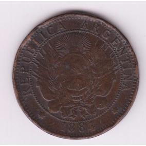 Argentina 1884 Moneda 2 Centavos De Cobre De Patacon