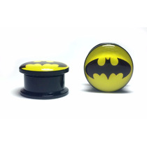 Alargador Orelha Plug Batman 5mm Herois Acrílico Marvel