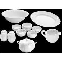 Conjunto De Louças Para Sopa Porcelana Limoges Alto Relevo