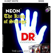 Encordoamento P/ Baixo De 6 Cordas Dr Neon - Branca