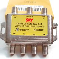 Chave Comutadora Sky 3x4 Podendo Substituir Diseqc Diplexer