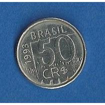 Moeda Antiga De 50 Cr$ (cruzeiro Real) Onça Pinta. Ano: 1993