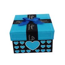 Caixa Padrinhos Lembrança Casamento 15 Anos Azul Claro
