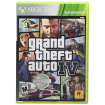 Grand Theft Auto 4 Cuatro Xbox 360 Platinum Hits Standard