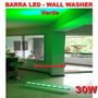 Lámpara Barra Led Verde 30w Iluminación D Fachadas Wall Wash