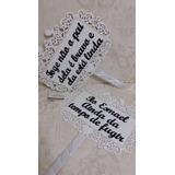 Placa Quadrada Com Pombos- Entrada Noiva - Personalizada