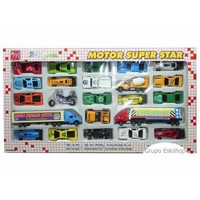 Kit Miniatura 25 Carrinhos Super Divertido- Barato Leve Já